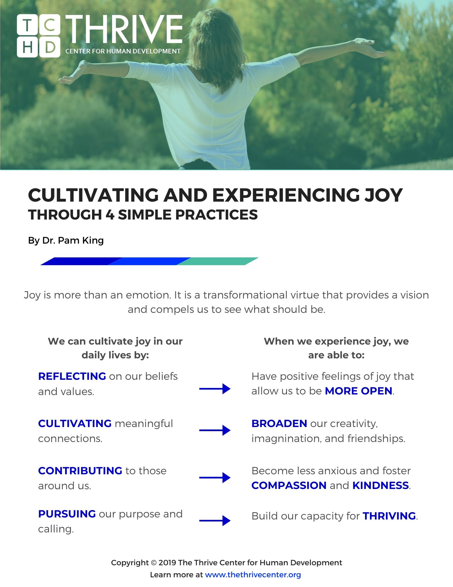 Cultivating and Experiencing Joy 2019 Preview