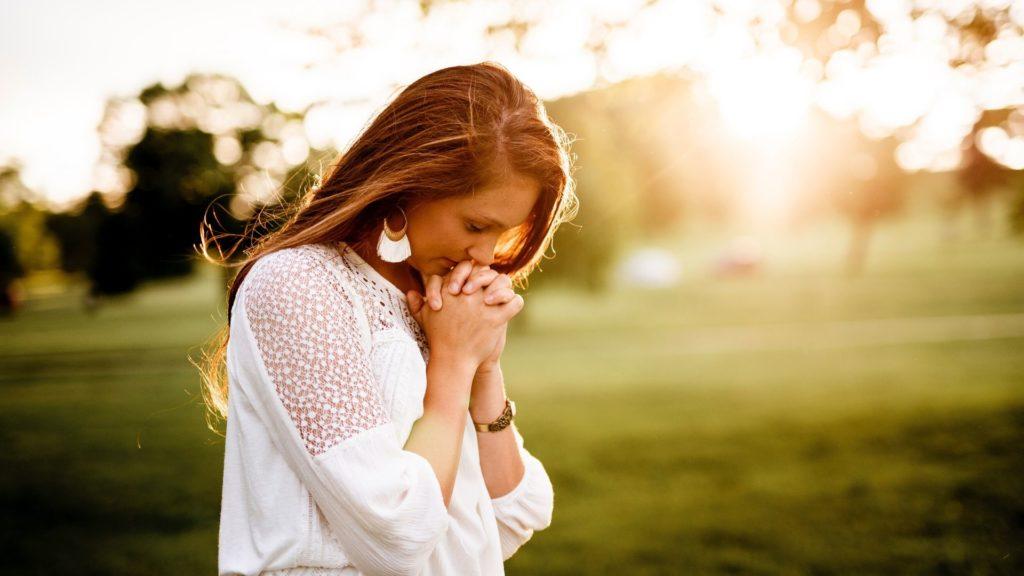 Girl on a prayer walk