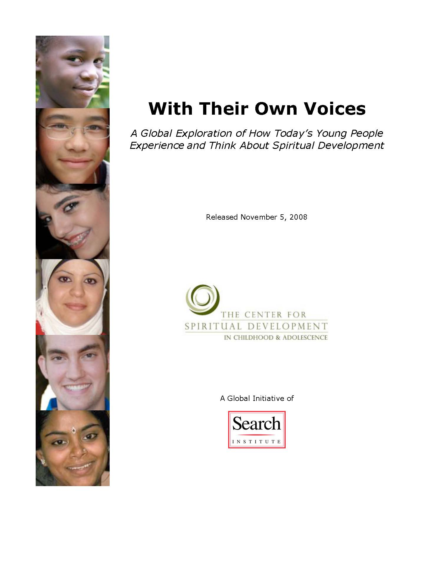 Search Institute WIth Their Own Voices Report Preview