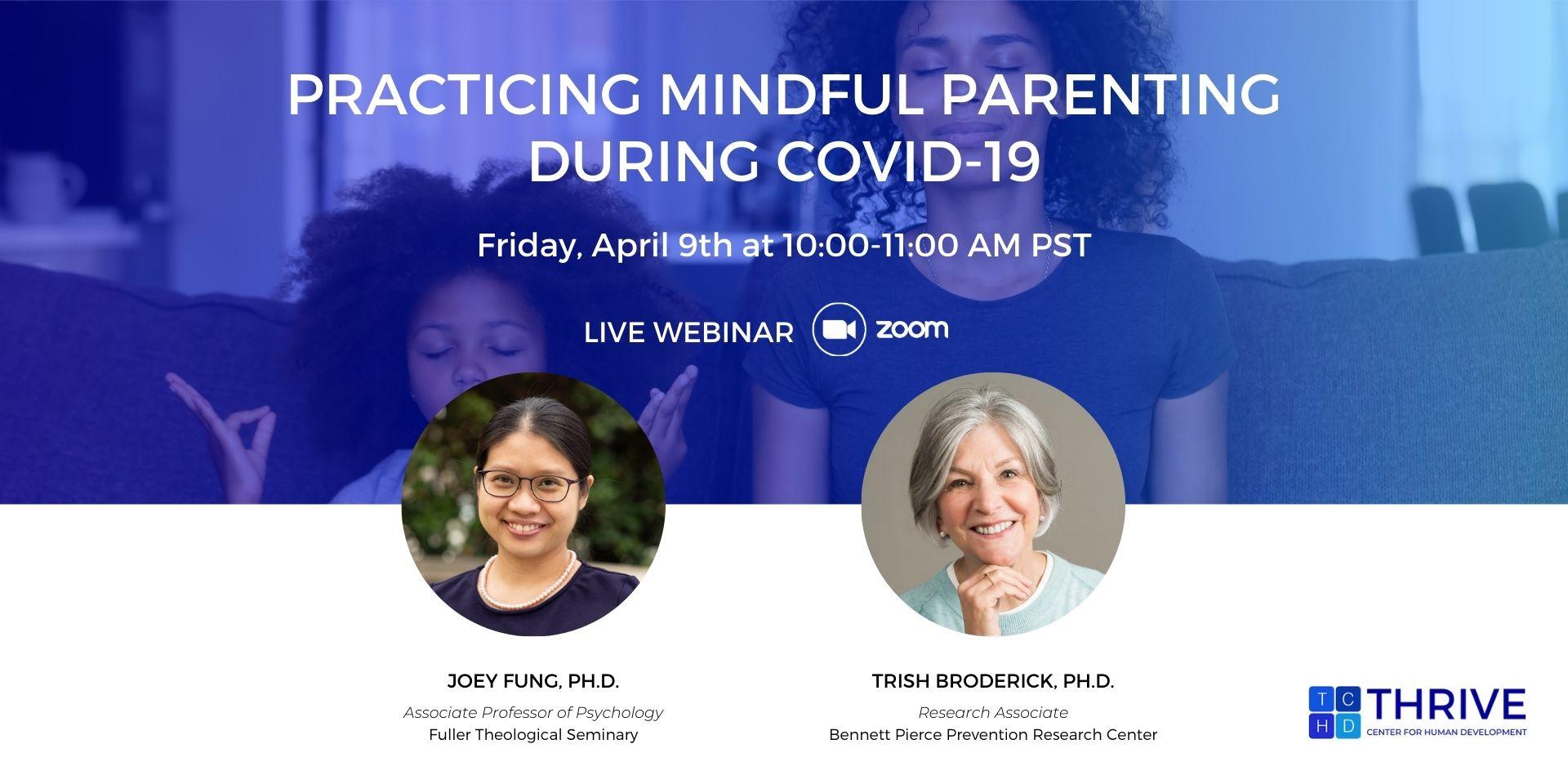 Mindful Parenting webinar banner