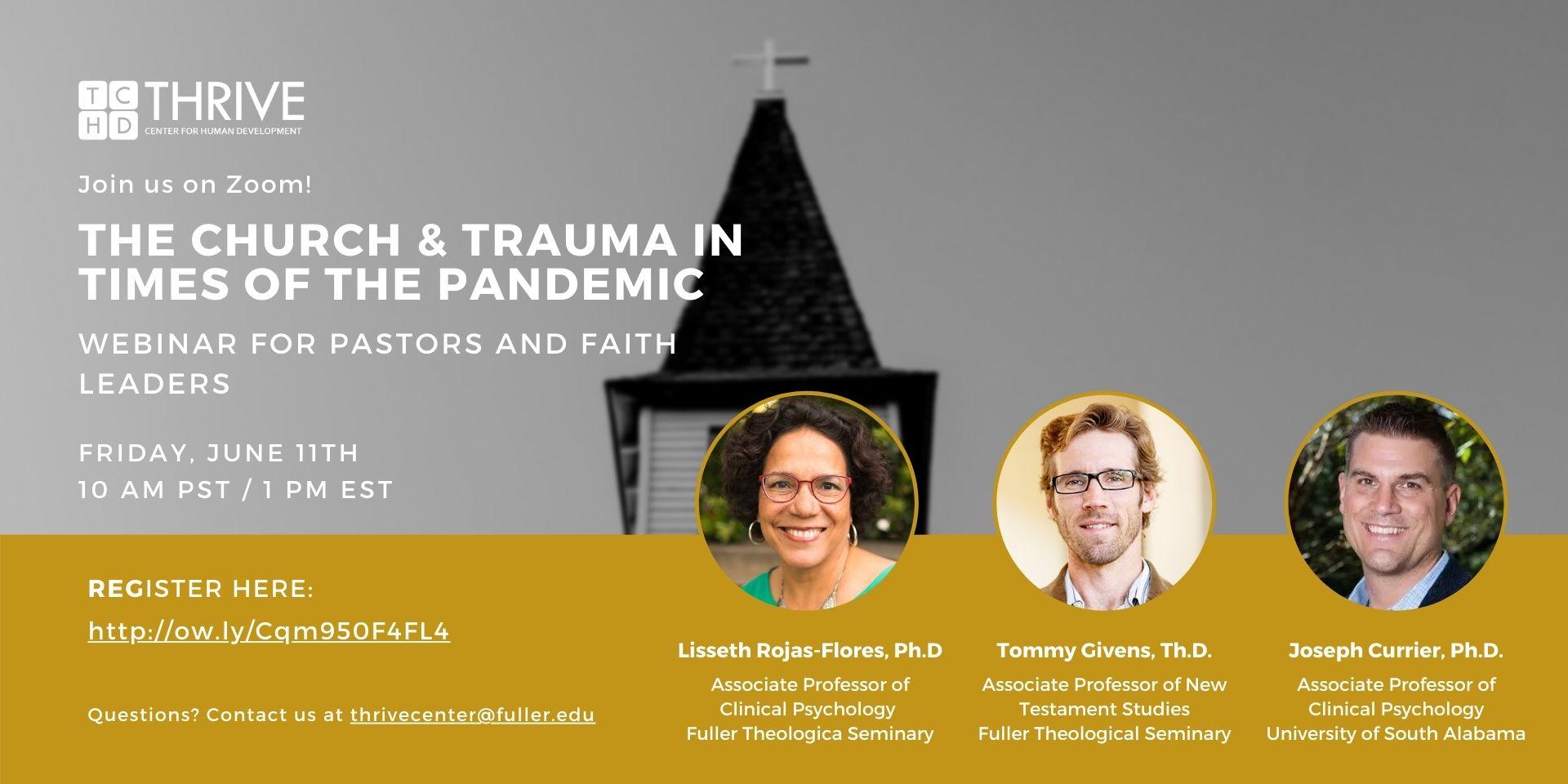 Webinar banner for pastors and faith leaders