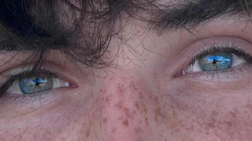 Focus on Aidan's eyes