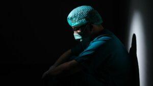 Depressed healthcare worker