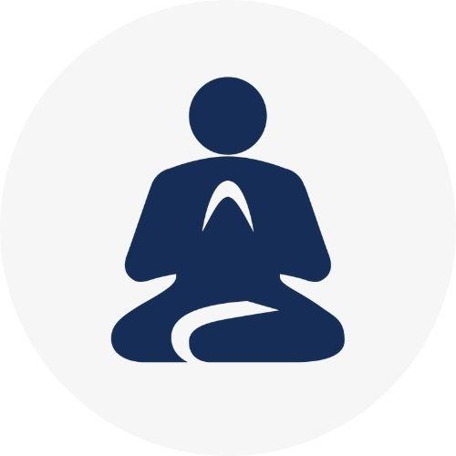 Icon representing meditation