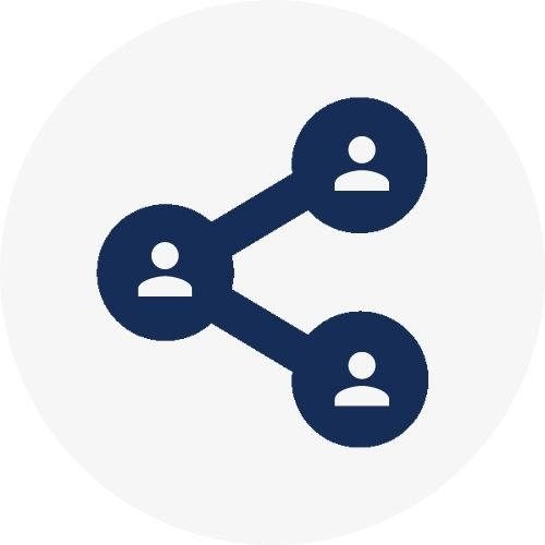 Icon representing social connections