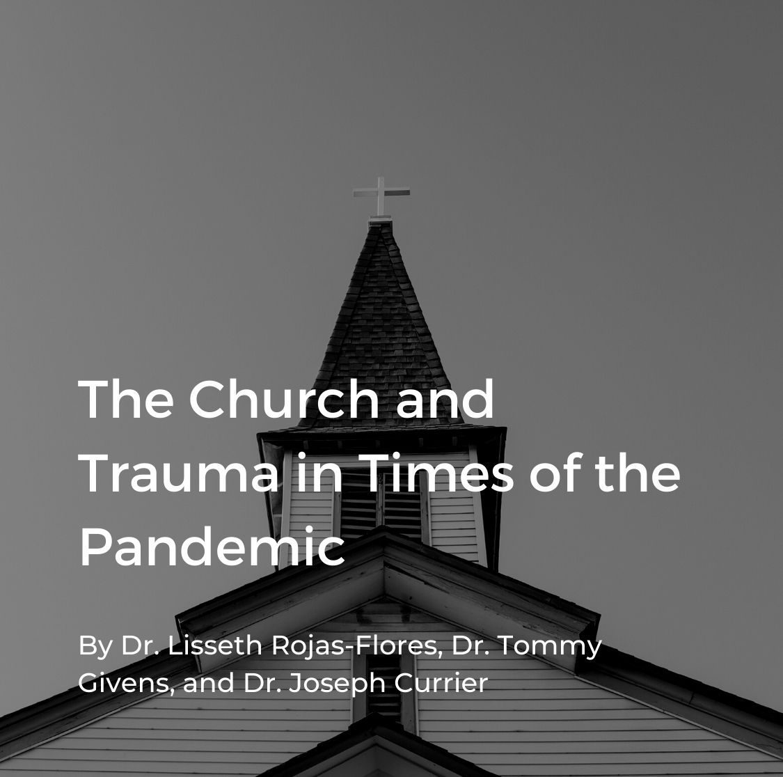 Cover for English webinar on the church and trauma during COVID-19
