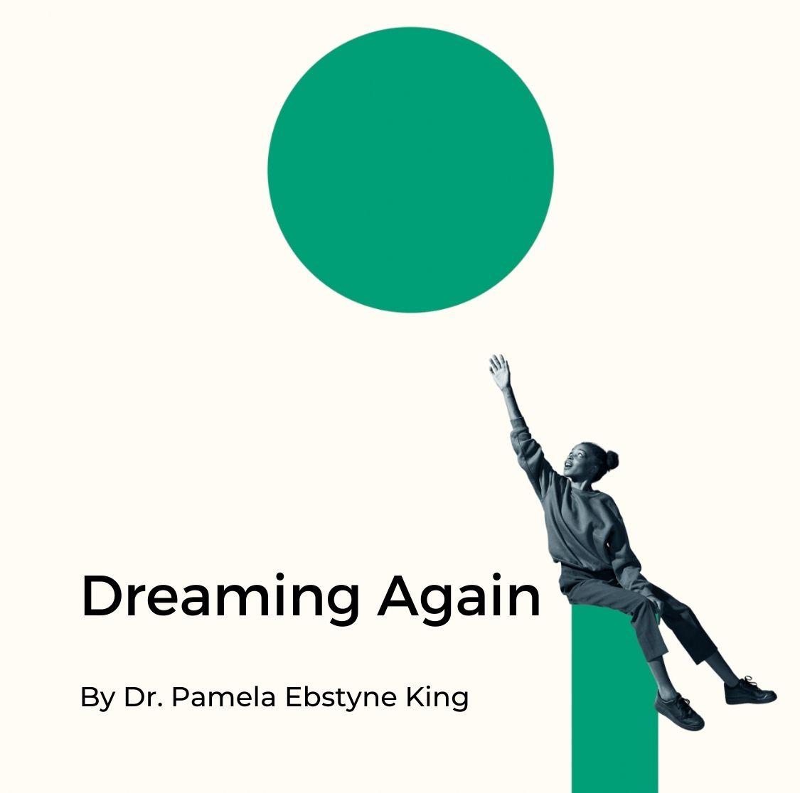 Girl reaching for dream