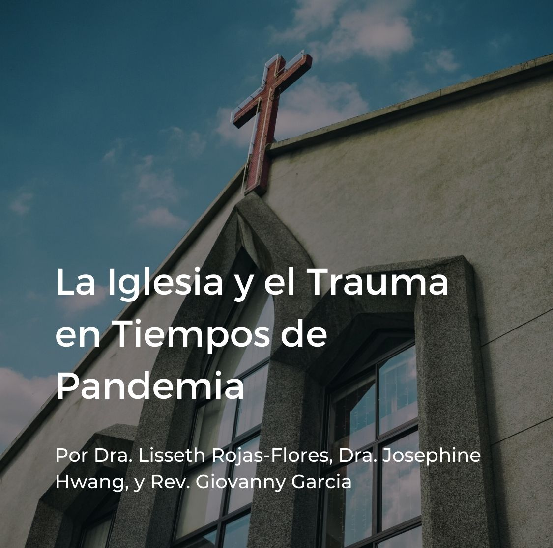 Cover for Spanish webinar on the church and trauma during COVID-19