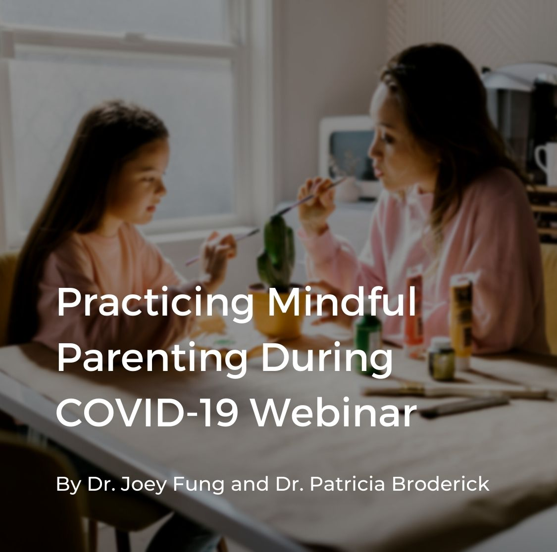 """Cover for """"Practicing Mindful Parenting"""" webinar"""