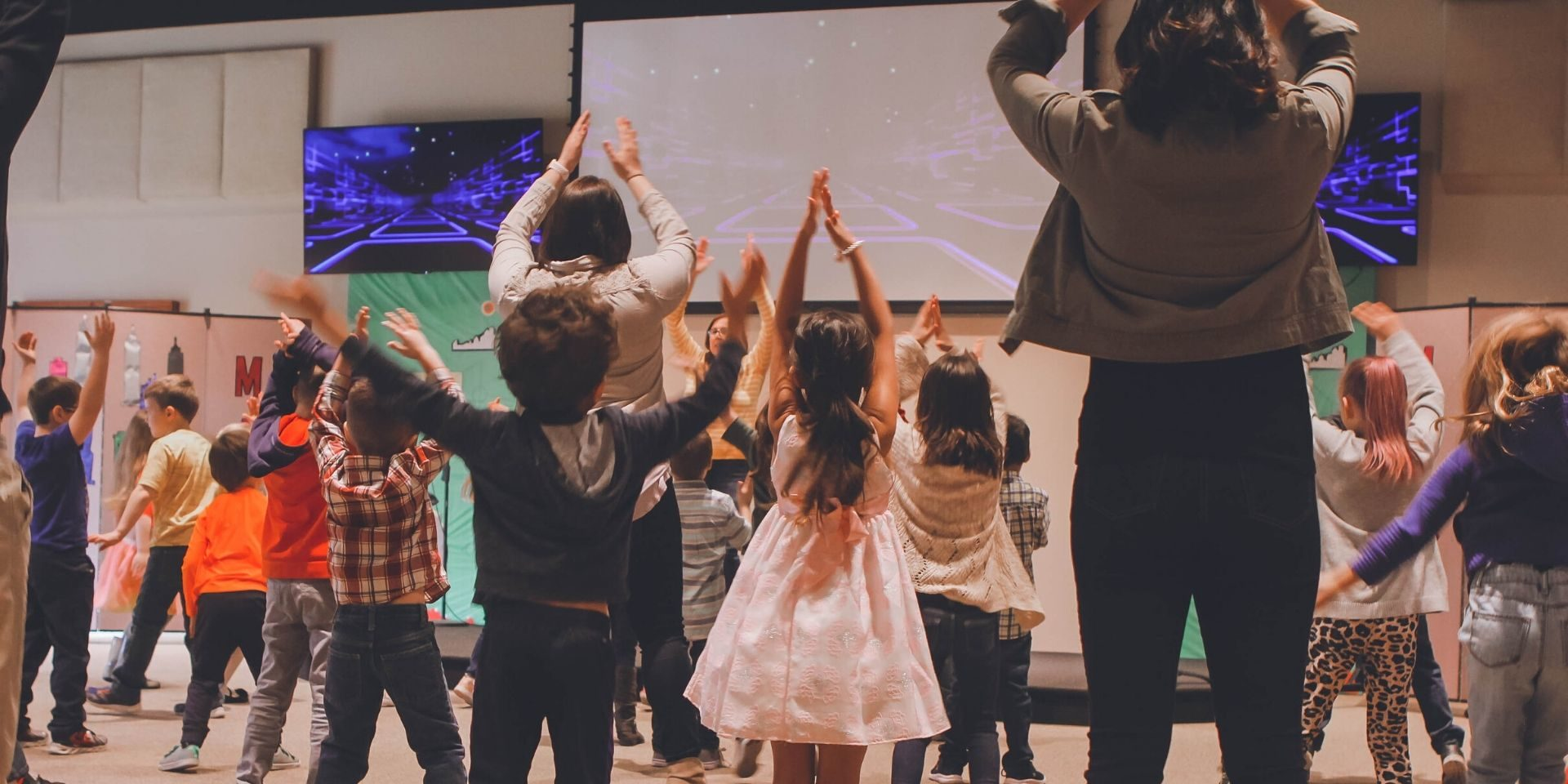 Children ministry during worship