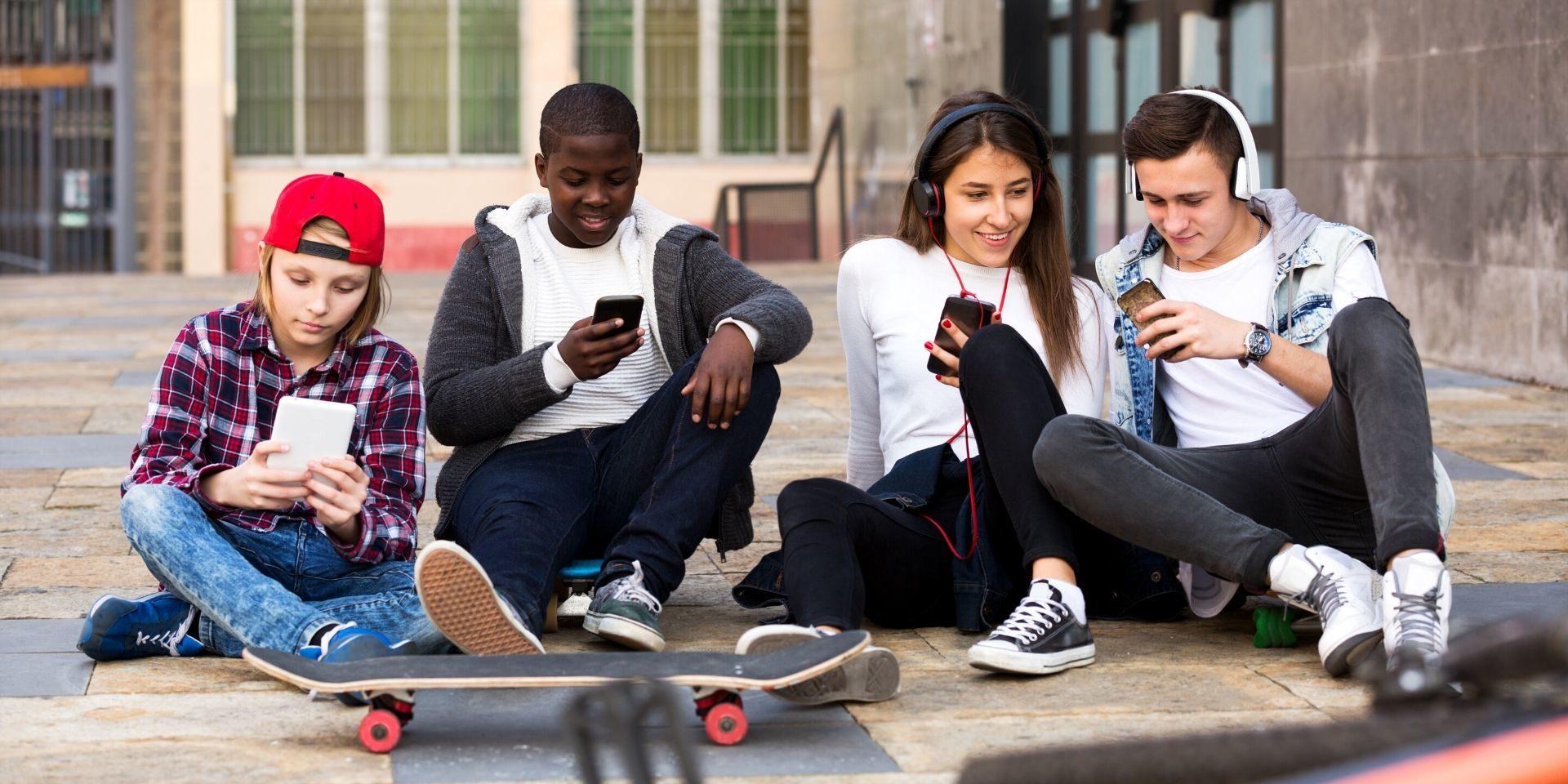 Teens on Their Phones